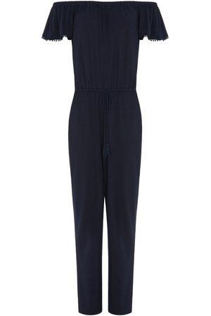 Women's Blue Rupper Jumpsuit Medium Les 100 Ciels