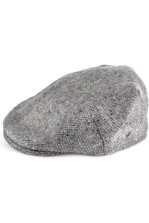 Men's Low-Impact Grey Wool Irish Tweed Flatcap 66cm Fia Clothing