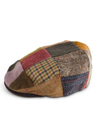 Men's Low-Impact Wool Irish Tweed Flatcap Patchwork 62cm Fia Clothing