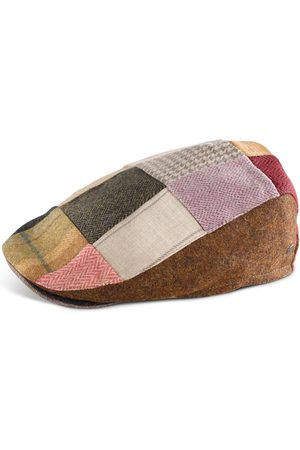 Men's Low-Impact Wool Irish Tweed Tailored Cap - Patchwork 66cm Fia Clothing