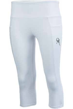 Women Capris - Women's Artisanal White Fabric Benitoite Capris Pant Medium ObservaMé®