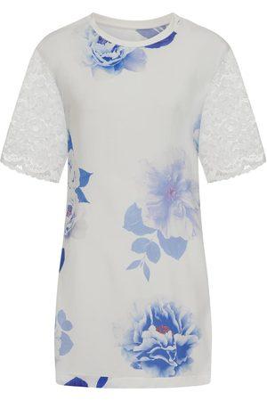Women's White Floral Tunic Dress Medium Sophie Cameron Davies