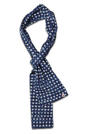 Men Scarves - Men's Blue Cotton & sons Dot Organic Japanese Scarf & SONS Trading Co