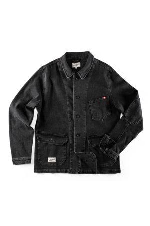 Men's Black Fabric & sons Denim Carver Jacket Large & SONS Trading Co