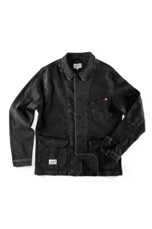 Men's Black Fabric & sons Denim Carver Jacket Small & SONS Trading Co