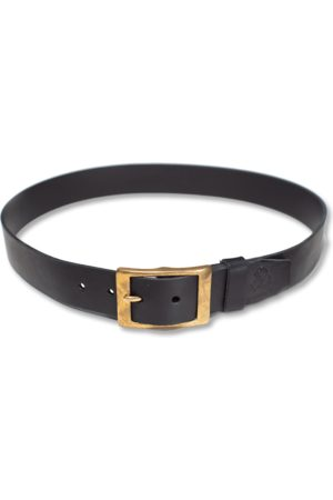 Men's Black Leather & sons Belt Small & SONS Trading Co