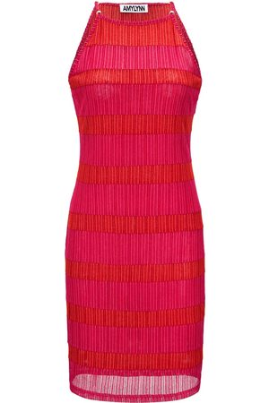 Women's Orange Dalia Dress Small AMY LYNN