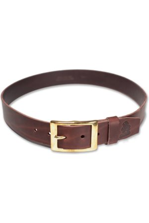 Men's Brown Leather & sons Belt Large & SONS Trading Co
