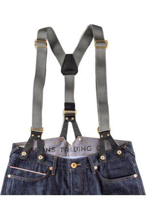 Men's Black Cotton Leather Braces & SONS Trading Co