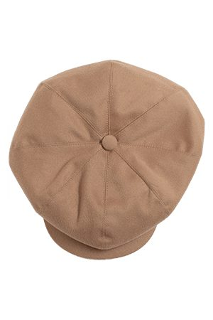 Men's Natural Wool & sons Jackson Traditional Baker Boy Hat - Tan Large & SONS Trading Co