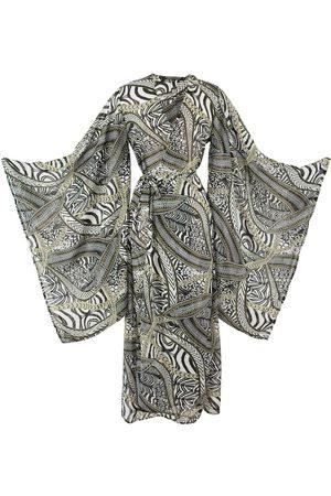 Women Kimonos - Women's Artisanal Black Khandro Kimono Large Jennafer Grace