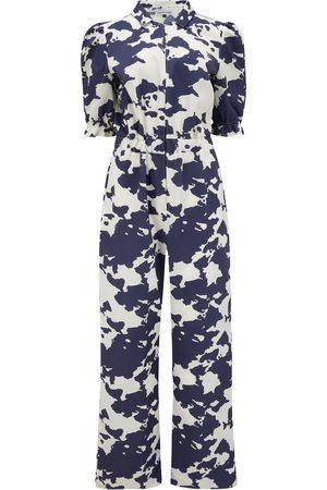 Women Pants - Women's Artisanal Blue Tencel Boiler Suit Small Stidston Studio