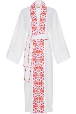 Women's Natural Fibres White Cotton Daphne Lily Kaftan Medium NAVA MARE