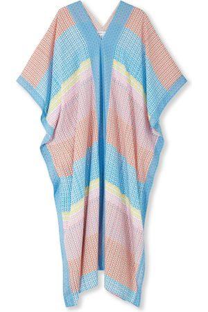 Women's Silk Maxi Kaftan - Impala Tulip Medium Jessica Russell Flint