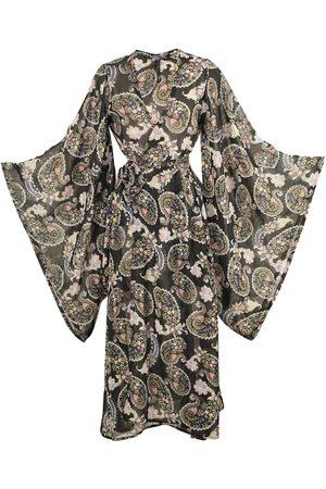 Women Kimonos - Women's Artisanal Black Bernadette Kimono XL Jennafer Grace