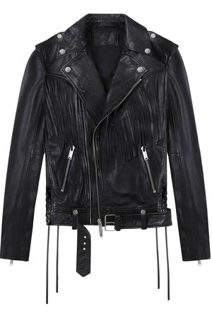 Women Leather Jackets - Women's Black Cotton Rodeo Biker Jacket XL Other