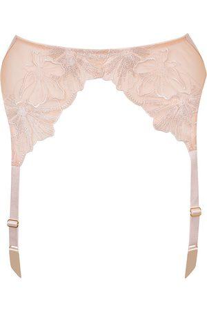 Women Underwear Accessories - Women's Blush Silk Adelaide Road Suspender Small Myla London