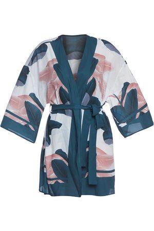 Women Kimonos - Women's Artisanal Crepe Agave Beach Kimono Cliché Beachwear