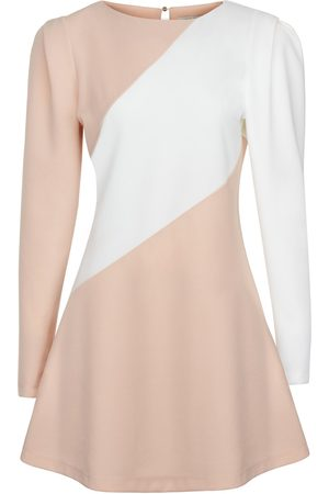 Women Party Dresses - Women's Artisanal Orange Fabric Mini Dress With Shoulder Detail Medium NOCTURNE