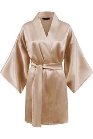 Women's Artisanal Natural Silk Kimono - Mila Nude MOYE