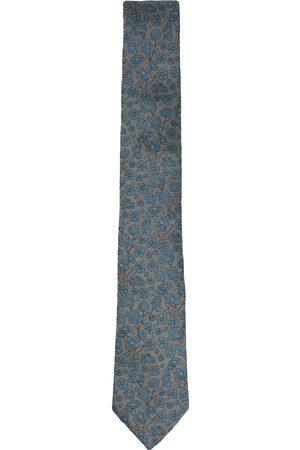 Men's Blue/Green Silk Garden Turq Tie Lords of Harlech