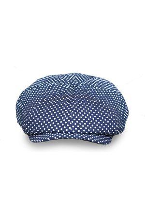 Men's Artisanal Blue Cotton Theo's Moonlight Newsboy Cap Large Mister Miller - Master Hatter