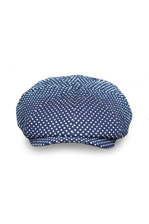 Men's Artisanal Blue Cotton Theo's Moonlight Newsboy Cap Medium Mister Miller - Master Hatter