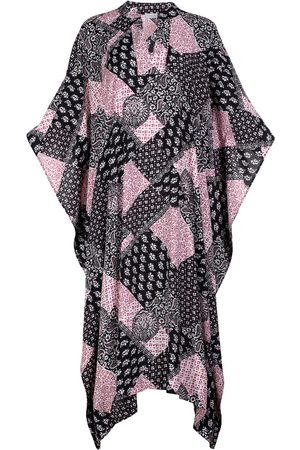 Women's Artisanal Silk Summer Viscose Loose Fit Kaftan Dress Farida L/XL AZOiiA