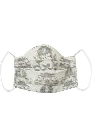 Women Bathrobes - Women's Artisanal Grey Cotton Upcycled Face Cover - Silent Wall Medium 4649.REC