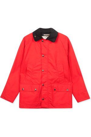 Men's Artisanal Red Cotton Trinity Wax Jacket Small Burrows & Hare
