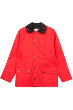 Men's Artisanal Red Cotton Trinity Wax Jacket XL Burrows & Hare