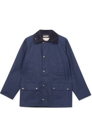 Men's Artisanal Navy Cotton Trinity Wax Jacket Large Burrows & Hare
