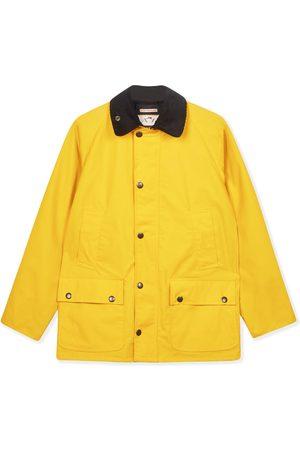Men Outdoor Jackets - Men's Artisanal Yellow Cotton Trinity Wax Jacket Large Burrows & Hare