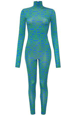 Women Pants - Women's Green Monoskin Print - Aquamarine Medium MONOSUIT