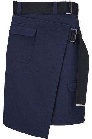 Women Asymmetrical Skirts - Women's Recycled Blue Cotton Diya Skirt XS Fonnesbech