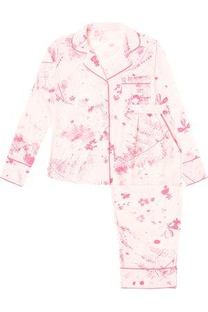 Women Pajamas - Women's Pink/Purple Silk Florence Pyjama Long Set XS KDK