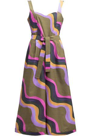 Women Jumpsuits - Women's Artisanal Cotton Sullo Jumpsuit 'Waves' Large Tomcsanyi