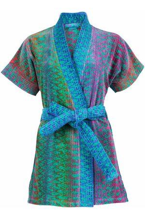 Women's Natural Fibres Green Cotton Ocean Magic Beach Kimono Small Elaiva