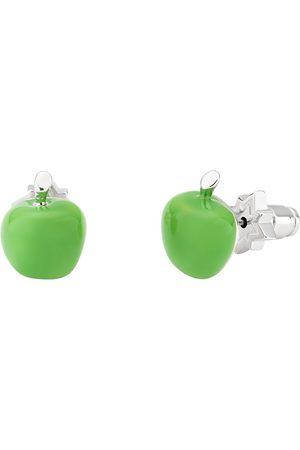 Women Studs - Women's Silver Apple Stud Earring Green All We Are