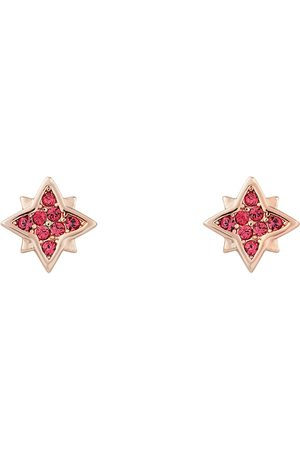Women Studs - Women's Pink Stellar Pave Stud Earring - Indian All We Are