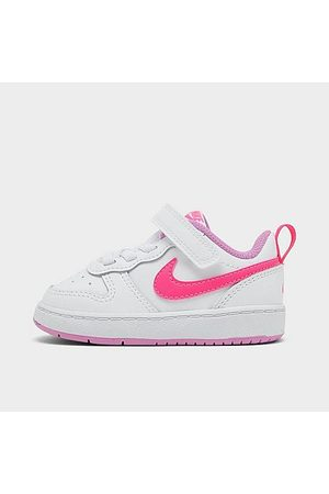 Nike Girls' Toddler Court Borough Low 2 Casual Shoes in / Size 4.0 Leather