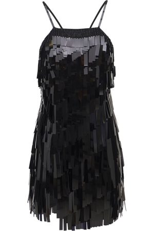 THE ATTICO Sequin & Crystal Embroidery Mini Dress