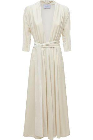LUISA BECCARIA Velvet Long Dress