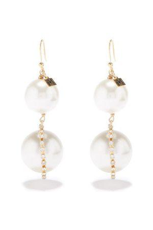 Rosantica Faux-pearl & Crystal Drop Earrings - Womens - Pearl
