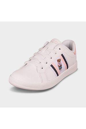 Polo Ralph Lauren Girls Sneakers - Girls' Little Kids' Kids Oaklynn Bear Faux-Leather Sneakers in / Size 1.5