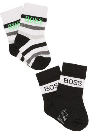 HUGO BOSS Boys Socks - Set Of 2 Logo Cotton Knit Socks