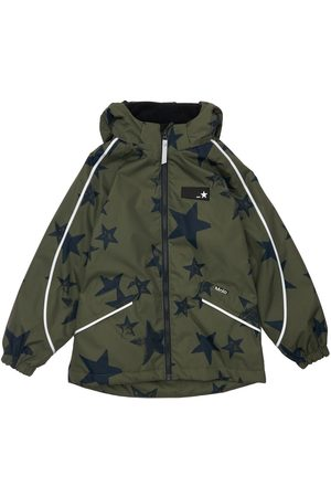 MOLO Boys Puffer Jackets - Stars Print Nylon Puffer Jacket