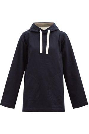 Jil Sander Oversized Denim Hooded Sweatshirt - Womens - Dark