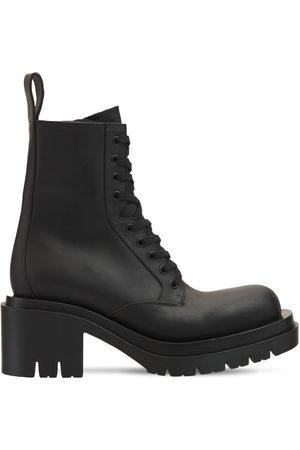 Bottega Veneta 70mm Lug Leather Lace-up Boots