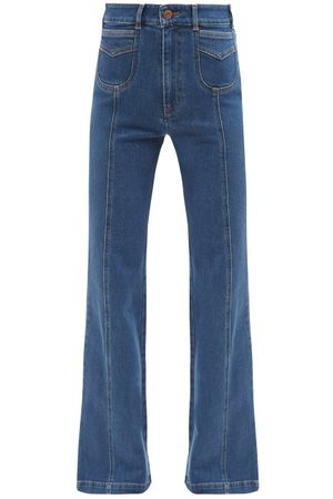 See by Chloé High-rise V Yoke-pocket Kick-flare Jeans - Womens - Mid Denim
